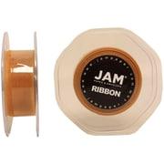 JAM Paper® Sheer Organza Ribbon, .88 Inch Wide x 25 Yards, Gold, 2/Pack (807SHgo25g)