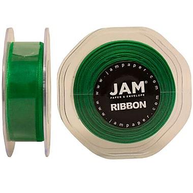 JAM PaperMD – Ruban lustré en organza, 0,88 po larg. x 25 verges long., vert émeraude, 2/paquet (807SHemgr25g)