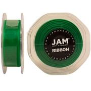 JAM Paper Sheer Organza Ribbon, .88 Inch Wide x 25 Yards, Emerald Green, 2/Pack (807SHemgr25g)