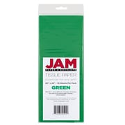 JAM Paper Tissue Paper, Green, 10 packs of 10 (1152352g)