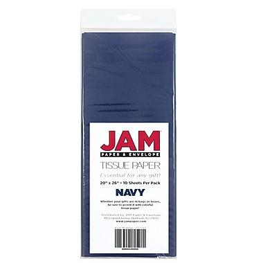 JAM PaperMD – Papier de soie, bleu marine, 10 paquets de 10 (1152353g)