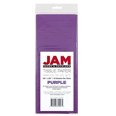 JAM Paper Tissue Paper, Purple, 10 packs of 10 (1152355g)