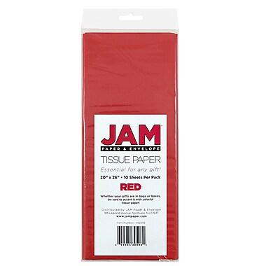 JAM Paper® Tissue Paper, Red, 10 packs of 10 (1152356g)