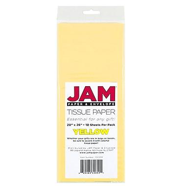 JAM Paper® Tissue Paper, Yellow, 10 packs of 10 (1152359g)
