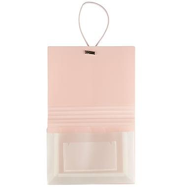 JAM PaperMD – Classeur extensible format coupon à 6 pochettes, rose bébé, 5/paquet
