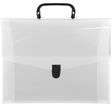 JAM Paper® Briefcase, 12 x 9.5 x 1.5, Clear, 2/Pack (2012clearg)