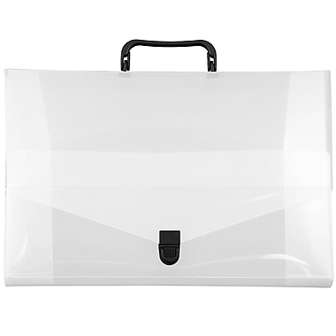 JAM Paper® Briefcase, Small, 10 x 15 x 2, Clear, 2/Pack (2015 001g)