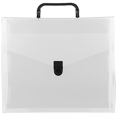 JAM Paper® File Carry Case, 10 x 12 x 4, Clear/Black, 2/Pack (7206 001g)