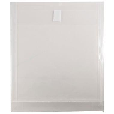 JAM Paper® – Enveloppes en plastique à extrémité ouverte, format lettre, transparente, paq./12
