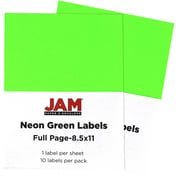 jam paper full page labels 8 5 x 11 sticker paper neon green 2