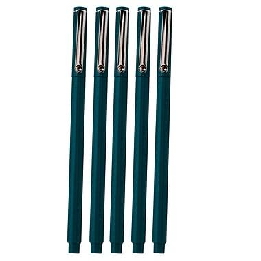 JAM Paper Le Pen, Oriental Blue, 5/Pack (7655881g)