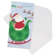 JAM Paper® Christmas Money Cards Set, Merry Christmas Santa, 24/Pack (95227791g)