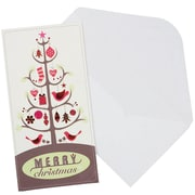 JAM Paper Christmas Money Cards Set, Merry Christmas Tree, 24/Pack (95228646g)