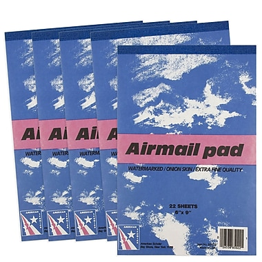 JAM Paper® Paper Pad, 6 x 9, Airmail Onion Skin, 5/Pack (189815216g)