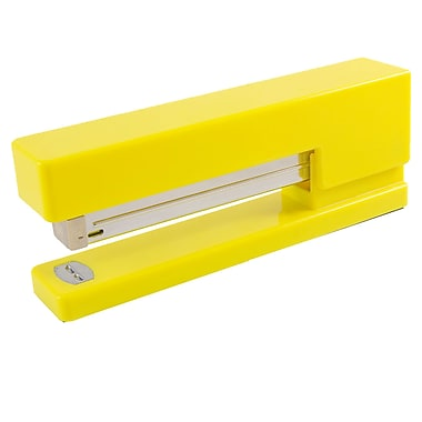 JAM Paper® Modern Desk Stapler, Yellow