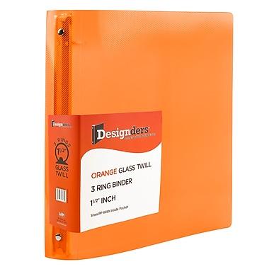 JAM PaperMD – Reliure en plastique à 3 anneaux, 1,5 po, orange, 2/paquet