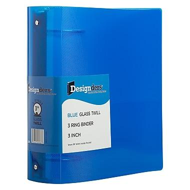 JAM PaperMD – Reliure en plastique à 3 anneaux, 3 po, bleu, 2/paquet