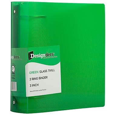 JAM PaperMD – Reliure en plastique à 3 anneaux, 3 po, vert, 2/paquet