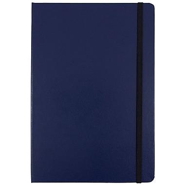 JAM PaperMD – Carnet à couverture rigide avec fermeture à élastique, bleu, grand, 5 7/8 x 8 1/2 po