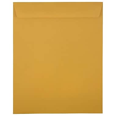 JAM Paper – Enveloppes à ouverture au sommet, 11,5 x 14,5 po, papier kraft brun, 100/paquet (313011452)