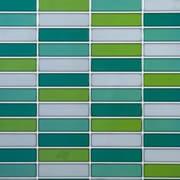 "CTG Brands Rectangular Glossy Wall Tile, 10"" x 10"", Green, 6/Pack"