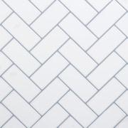 "CTG Brands Herringbone Wall Tile, 10"" x 10"", 6/Pack"