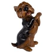 "CTG Brands Standing Yorkie Dog Figurine, 8.5"", Brown"