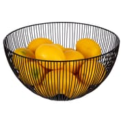 "CTG Brands Tall Kai Wire Fruit Bowl, 12"", Black"