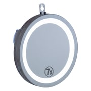 "CTG Brands Suction Mirror with LED Lights, 7.75"", Silver"