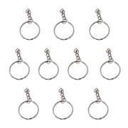 CTG Brands Easy Style Key Ring, 25mm, Silver, 120/Pack