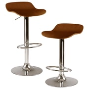 Winsome Kallie Wood Adjustable Air Lift Stool, Natural, 2 Pieces