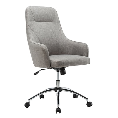 Techni Mobili Comfy Height Adjustable Rolling Office Desk Chair, Gray (RTA-1005-GRY)