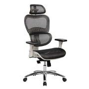 Techni Mobili Deluxe High Back Mesh Office Executive Chair with Neck Support, Black (RTA-5003-BK)