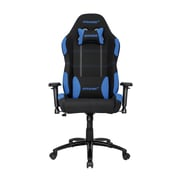 Akracing™ Core Series EX Polyester/Fabric Gaming Chair, Black/Blue, 3D Adjustable (AK-EX-BK/BL)