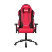 Akracing™ Core Series EX-Wide Polyester/Fabric Gaming Chair, Red/Black, 3D Adjustable (AK-EXWIDE-RD/BK)