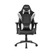 Akracing™ Core Series LX PU Leather Gaming Chair, Black/White, 3D Adjustable (AK-LX-WT)