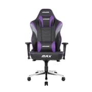 Akracing™ Masters Series Max Pleather Big and Tall Gaming Chair, Black/Indigo, 4D Adjustable (AK-MAX-IN)