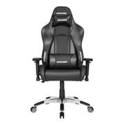 Akracing™ Masters Series Premium PU Leather Gaming Chair, Carbon Black, 4D Adjustable (AK-PREMIUM-CB)
