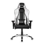 Akracing™ Masters Series Premium PU Leather Gaming Chair, Black/Silver, 4D Adjustable (AK-PREMIUM-SV)