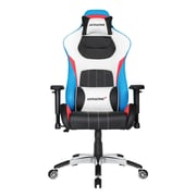 Akracing™ Masters Series Premium PU Leather Gaming Chair, Black/White/Blue, 4D Adjustable (AK-PREMIUM-TRI)