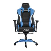 Akracing™ Masters Series Pro Pleather Gaming Chair, Black/Blue, 4D Adjustable (AK-PRO-BL)