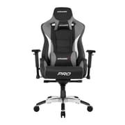 Akracing™ Masters Series Pro Pleather Gaming Chair, Black/Gray, 4D Adjustable (AK-PRO-GY)