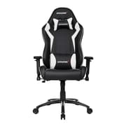 Akracing™ Core Series SX PU Leather Gaming Chair, Black/White, 3D Adjustable (AK-SX-WT)