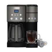 Cuisinart® Coffee Center® SS-15BKS 12-Cup Coffeemaker and Single Serve Brewer, Black Stainless