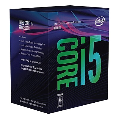 Intel® Core i5-8400 Desktop Processor, 2.8 GHz, Hexa-Core, 9MB Cache (BX80684I58400)