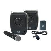 SMK-Link GoSpeak! Duet VP3450 Ultra-Portable Amplification System, 50 W, Wireless, Black