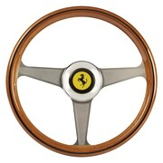 Thrustmaster® 2960822 Ferrari 250 GTO Wheel Add-On Authentic Replica Wheel for TS-PC Racer Wheel, Silver/Brown