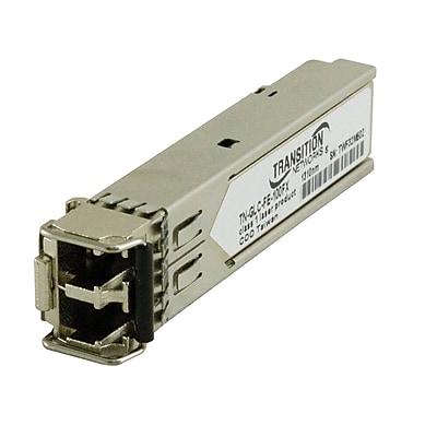 Transition Networks® 100Base-LX Single Mode Optical Fiber SFP Transceiver Module, 1.25 Gbps (TN-GLC-FE-100LX)