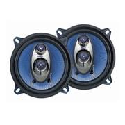 Pyle® – Haut-parleurs de véhicule PL53BL à trois voies, 200 watts, 5,25 po