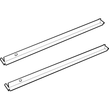 Fileworks Lateral File Cabinet Accessory, Front-to-Back Bars for File Cabinets, 2/Pack